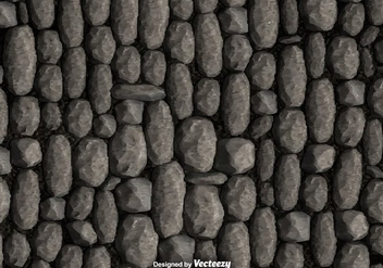 Pebble Stone Wall Background Vector - Kostenloses vector #374349