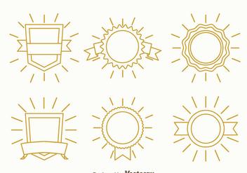 Blank Line Badge Vector - Kostenloses vector #374519