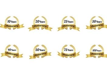 Aniversario Badge Vector - Kostenloses vector #374539