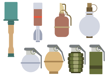 World War 2 Grenade Vector - vector gratuit #374609