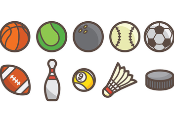 Free Sports Icons Vector - vector gratuit #374739