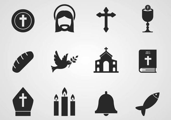 Free Catholic Icons Vector - бесплатный vector #374759