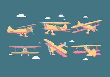 Biplane Vector - Free vector #374859