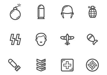 Free World War 2 Icons - vector #374909 gratis