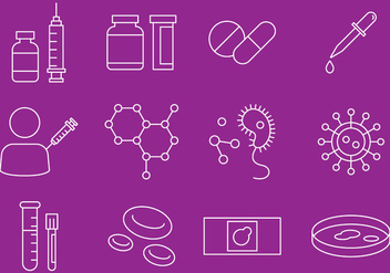 Disease And Virus Icons - Free vector #374959