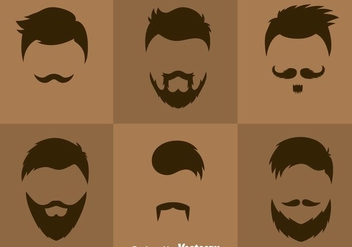 Man Hair Styles Vector - бесплатный vector #375069