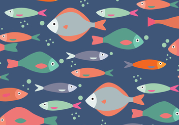 Fishes Pattern - vector gratuit #375089