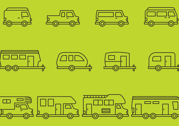 Camper Icons - Free vector #375129