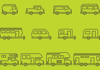 Camper Icons - бесплатный vector #375129