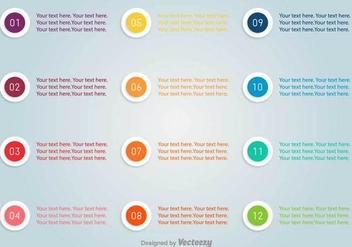 Bullet Points With Numbers Vector Set - Free vector #375139