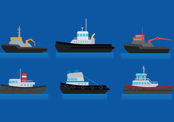 Tug Boat Vector - Free vector #375289