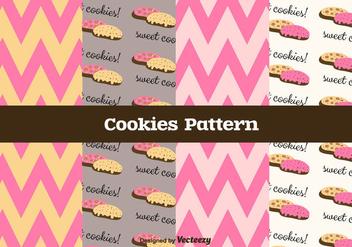 Free Cookies Vector Pattern - vector gratuit #375309