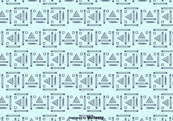 Outline Geometric Pattern - Free vector #375419