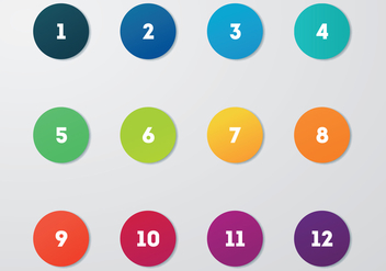 Free Circle Bullet Points Vector - Free vector #375459