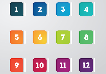 Free Square Bullet Points Vector - Free vector #375519