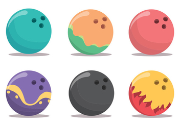 Bowling Alley Vector Set - Kostenloses vector #375579