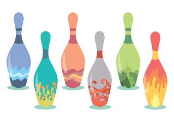 Bowling Alley Vector Set - Kostenloses vector #375619