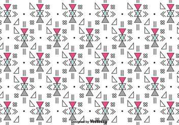 Retro Geometric Vector Pattern - Free vector #375729