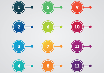 Free Bullet Points Vector - Free vector #375759