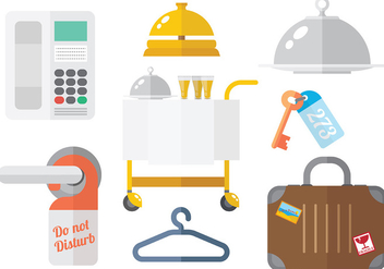 Free Hotel Icons Vector - Free vector #376169