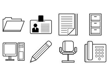 Free Office Stuff Icon Vector - Kostenloses vector #376289