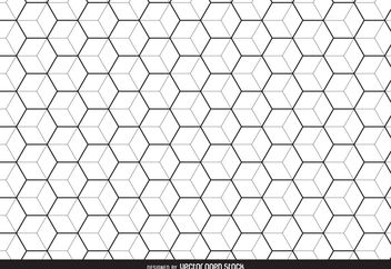 Linear hexagon pattern background - Free vector #376549