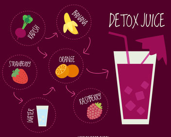 Purple detox juice recipe - Free vector #376629