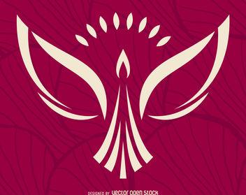 Minimalist phoenix logo - Free vector #376729