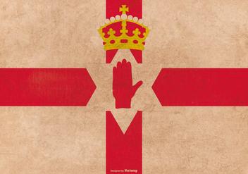 Grunge Style Northern Ireland Flag - Free vector #376819
