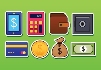 Free Banking Sticker Icons - vector gratuit #377019
