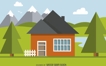 Home illustration design - Free vector #377039