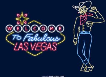 Las Vegas neon signs - Free vector #377089