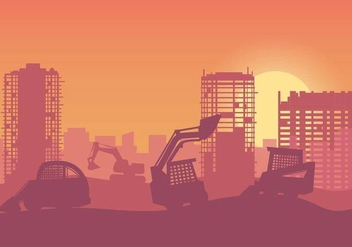 Free Construction Background Vector - Free vector #377159