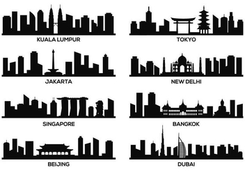 Free Asia Famous Landmark Vector - Free vector #377329