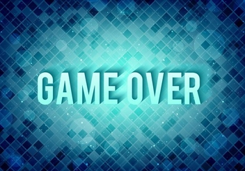 Free Vector Pixel Message: Game Over - Kostenloses vector #377349