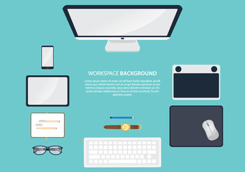 Workspace With Mouse Pad - vector gratuit #377599