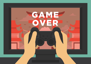 Vector Game Over - vector #377749 gratis