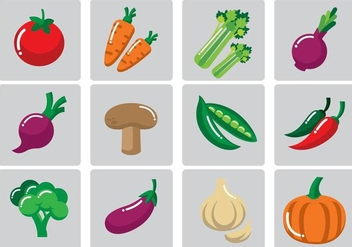 Vegetables Vector Illustration - Kostenloses vector #377769