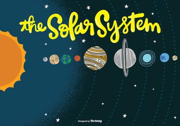Solar System Vector - vector #377799 gratis
