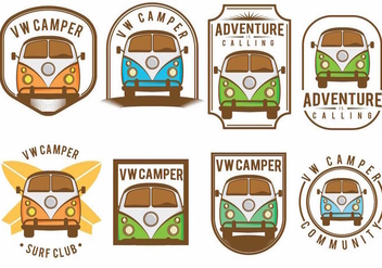 VW Camper Badge Set - vector gratuit #377999