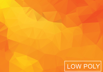 Orange Geometric Low Poly Style Illustration Vector - Kostenloses vector #378099