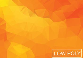 Orange Geometric Low Poly Style Illustration Vector - Free vector #378099