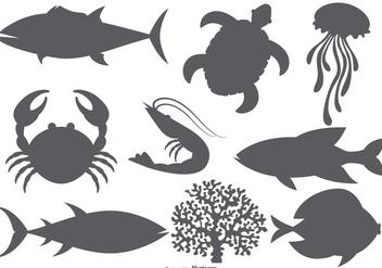 Sea Animal Vector Shapes - Free vector #378119