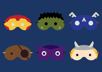 Vector Sleeping Mask Hero - бесплатный vector #378129