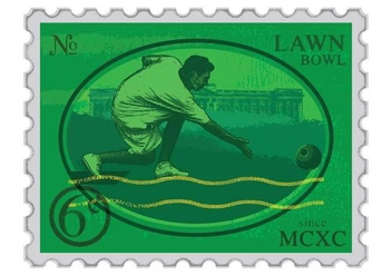 Lawn Bowls Stamp - Free vector #378159