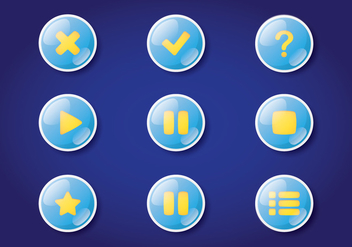 Digital Game Button - vector #378259 gratis