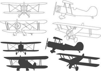 Biplane Silhouette - Free vector #378349