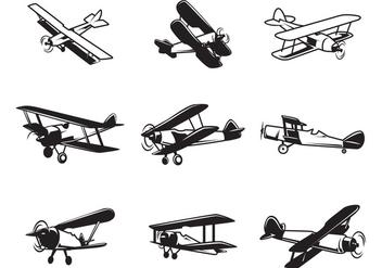 Free Biplane Vectors - Free vector #378429