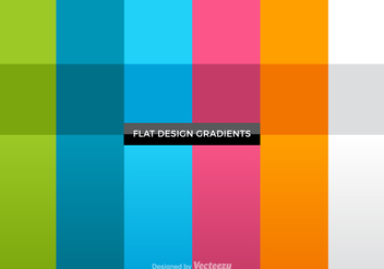 Free Flat Gradients Vector Set - Kostenloses vector #378479