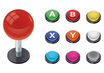 Free Arcade Button Vector - vector #378519 gratis